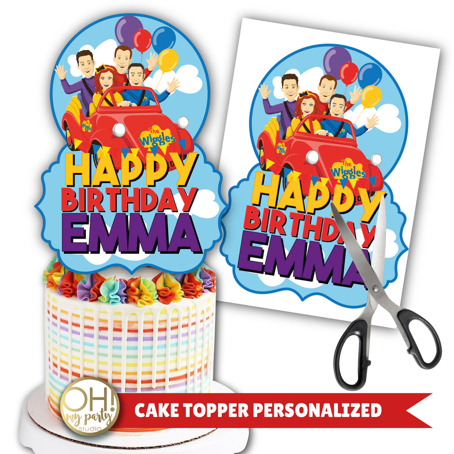 THE WIGGLES CAKE TOPPER, THE WIGGLES PARTY SUPPLIES, THE WIGGLES PARTY IDEAS, THE WIGGLES PARTY PRINTABLES, THE WIGGLES PARTY DECORATIONS, THE WIGGLES CAKE, THE WIGGLES PARTY, THE WIGGLES BIRTHDAY, THE WIGGLES BIRTHDAY PARTY