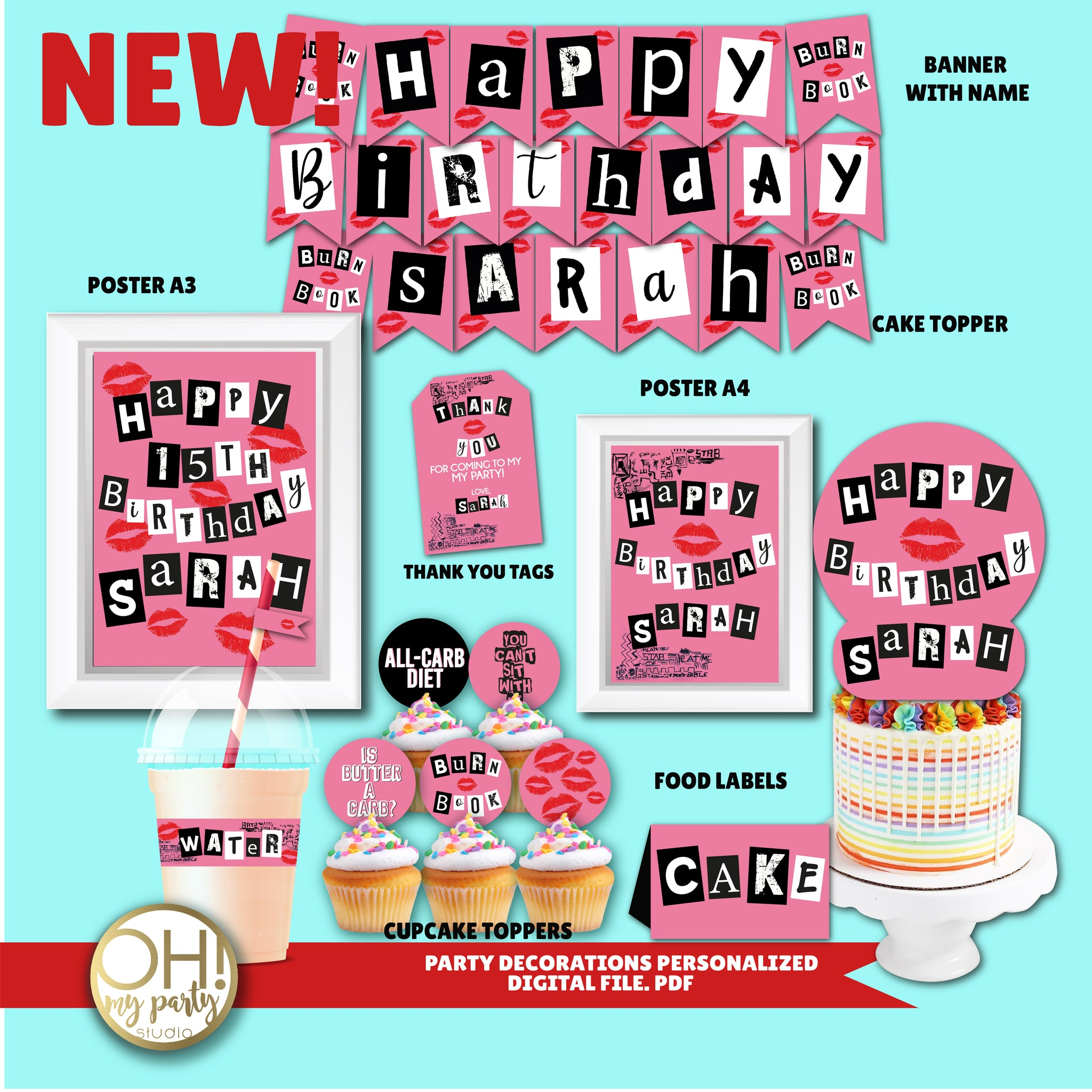 MEAN GIRLS BIRTHDAY PARTY DECORATIONS, MEAN GIRLS PARTY IDEAS, MEAN GIRLS PARTY SUPPLIES, MEAN GIRLS PARTY PRINTABLES, MEAN GIRLS PARTY DECORATIONS, MEAN GIRLS PARTY THEME, MEAN GIRLS PARTY DECORATIONS, MEAN GIRLS BIRTHDAY PARTY, MEAN GIRLS BACHELORETTE