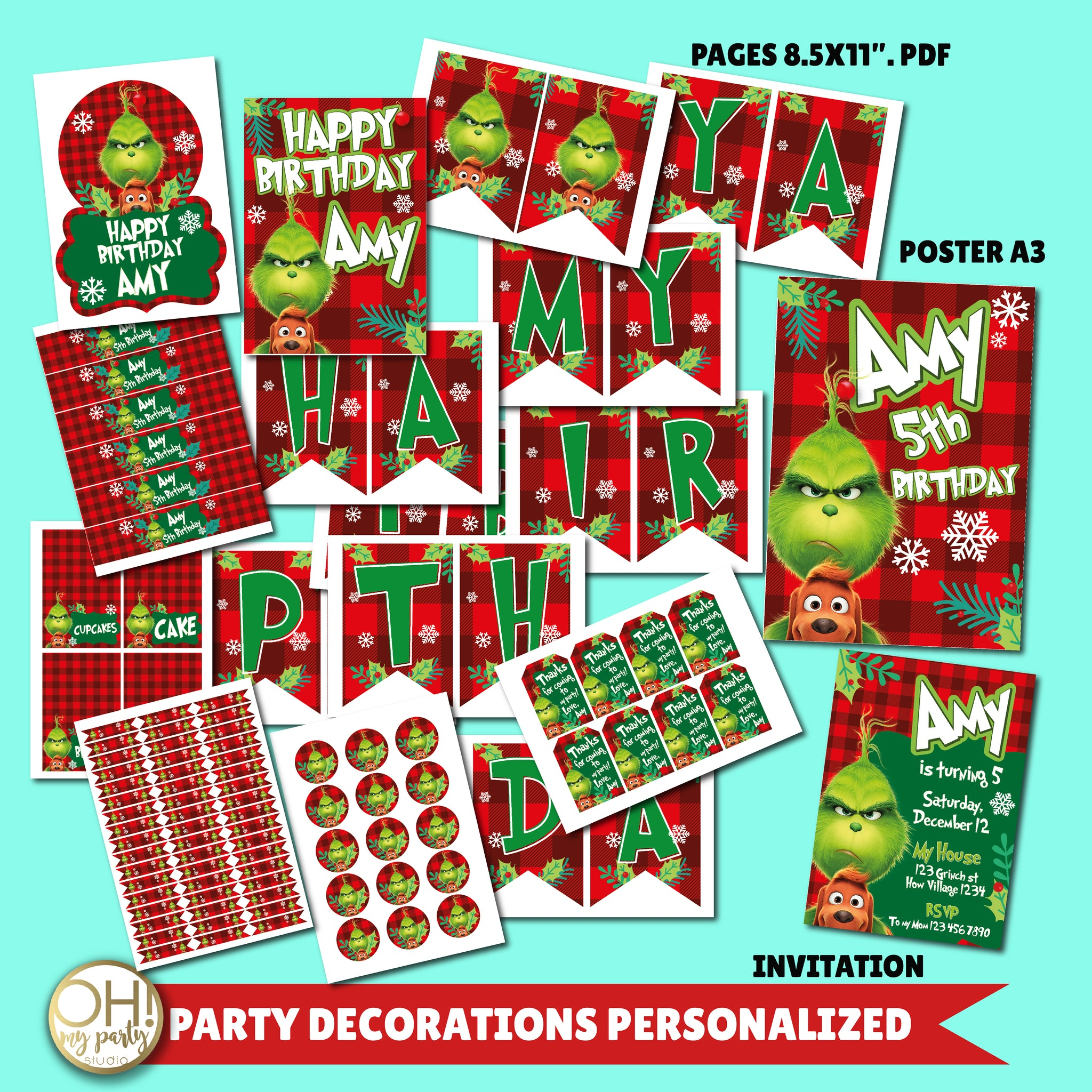 GRINCH BIRTHDAY PARTY DECORATIONS, GRINCH BIRTHDAY, GRINCH PARTY, GRINCH BIRTHDAY SUPPLIES, GRINCH PARTY IDEAS, GRINCH PARTY PRINTABLES, GRINCH PARTY DECORATIONS, GRINCH BIRTHDAY DECORATIONS,GRINCH INVITATION, GRINCH PARTY SUPPLIES, GRINCH BIRTHDAY INVITATION, GRINCH BIRTHDAY PARTY INVITATION, GRINCH DIGITAL INVITATION, GRINCH INVITE, GRINCH BANNER, GRINCH BIRTHDAY PARTY DECORATIONS
