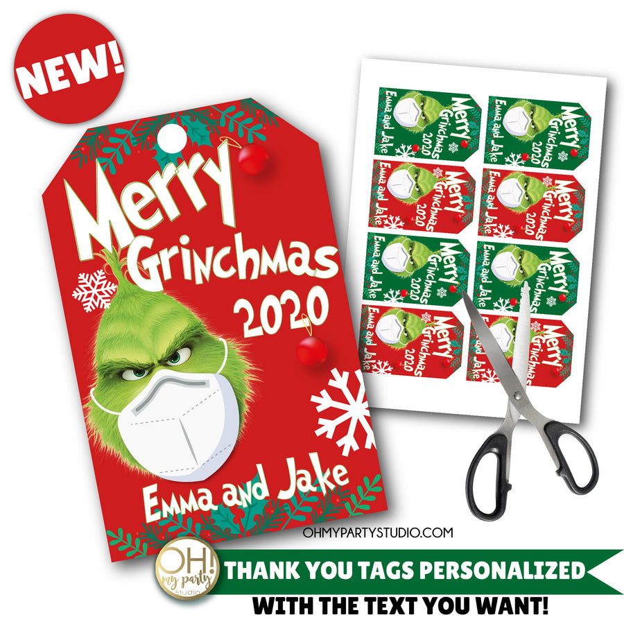 GRINCH THANK YOU TAGS, GRINCHMAS THANK YOU TAGS, CHRISTMAS 2020 TAGS, CHRISTMAS 2020 TAGS GIFTS, GRINCHMAS THANK YOU TAGS, GRINCHMAS TAGS, GRINCH TAGS, GRINCH CHRISTMAS, GRINCH PARTY, GRINCH BIRTHDAY, GRINCH GIFTS, GRINCH COVID, MERRY GRINCHMAS