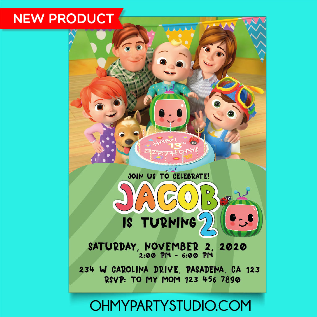 COCOMELON BIRTHDAY PARTY INVITATION, COCOMELON PARTY, COCOMELON BIRTHDAY, COCOMELON PARTY IDEAS, COCOMELON INVITATION, COCOMELON INVITE, COCOMELON INVITATIONS, COCOMELON DIGITAL INVITATION, COCOMELON BIRTHDAY PARTY, COCOMELON PARTY DECORATIONS