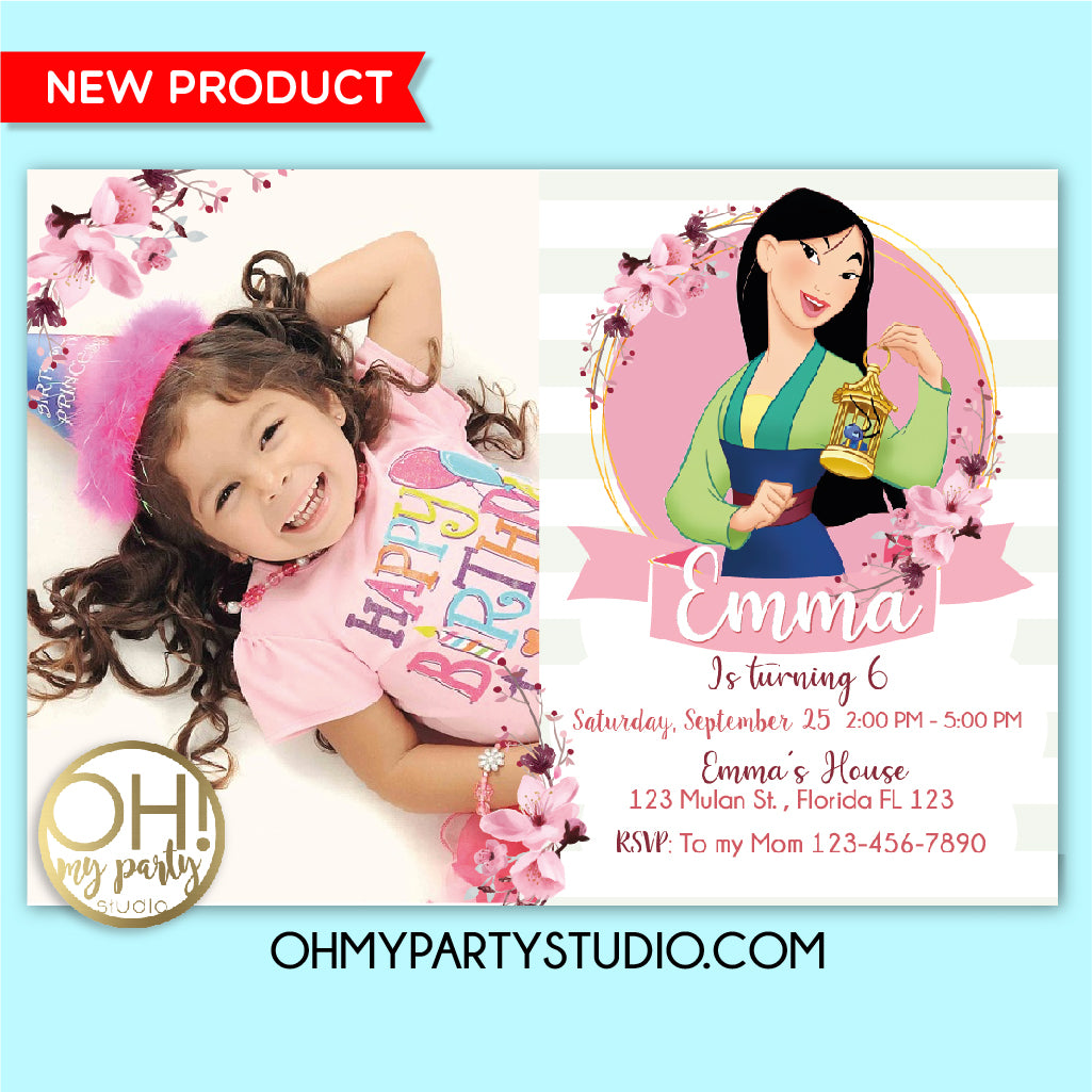 Mulan birthday party invitation, mulan 2020 invitation, mulan 2020 party, mulan invitation, mulan birthday, mulan party, mulan invite, mulan invitations, mulan digital invitation, mulan party ideas, mulan party decorations, mulan party supplies, mulan party printables, mulan card, mulan invitation with picture, mulan invitation with photo