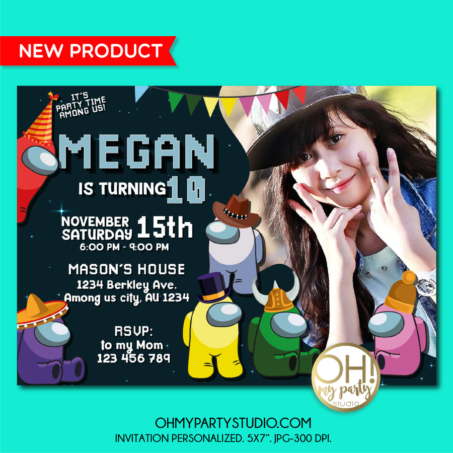 AMONG US BIRTHDAY PARTY INVITATION, AMONG US BIRTHDAY, AMONG US PARTY, AMONG US PARTY IDEAS, AMONG US PARTY DECORATIONS, AMONG US INVITE, AMONG US DIGITAL INVITATION, AMONG US INVITATIONS, AMONG US PARTY SUPPLIES, AMONG US PARTY THEME, AMONG US CARD