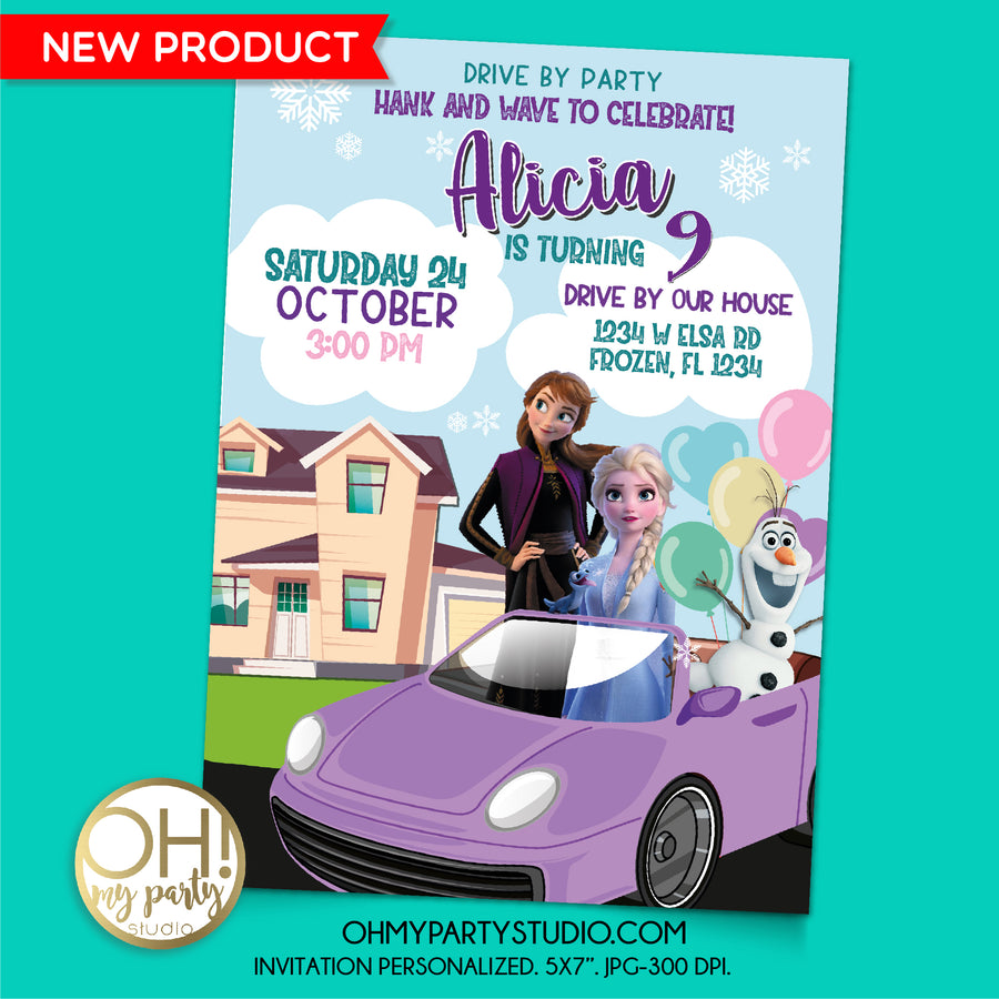 FROZEN 2 DRIVE BY INVITATION, FROZEN DRIVE BY INVITATION, FROZEN DRIVE BY INVITE, FROZEN BIRTHDAY PARTY, FROZEN DRIVE BY, FROZEN DRIVE BY PARTY, FROZEN DRIVE BIRTHDAY PARTY, FROZEN BIRTHDAY INVITE, FROZEN DIGITAL INVITATION, FROZEN PARTY THEME, FROZEN PARTY SUPPLIES