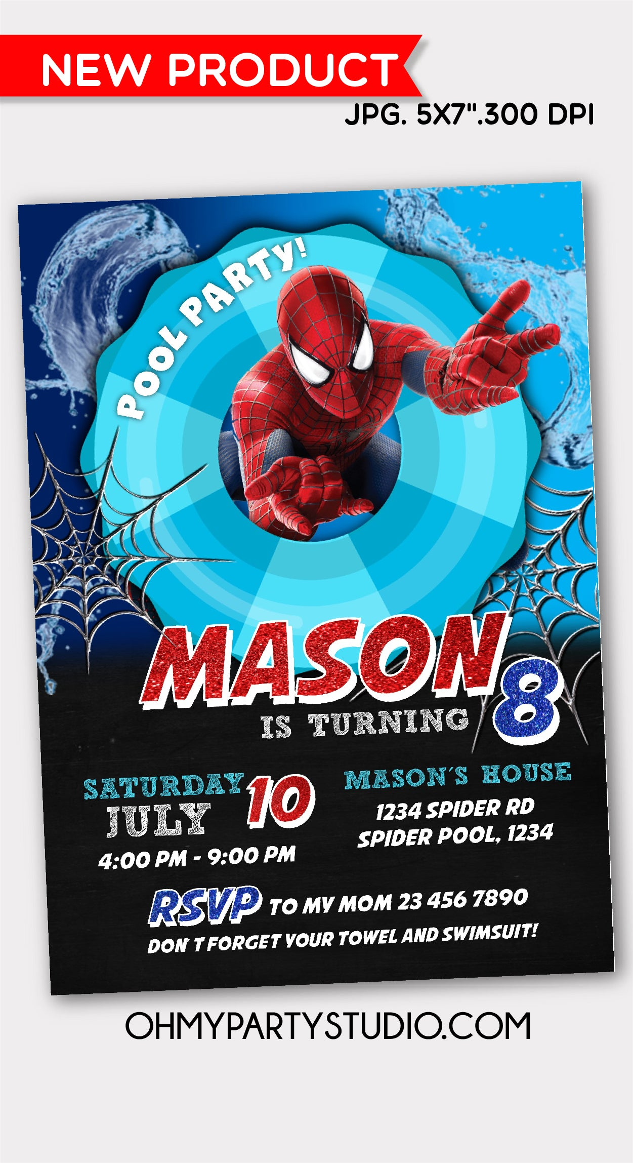 SPIDER-MAN POOL PARTY, SPIDER-MAN POOL PARTY INVITATION, SPIDERMAN POOL PARTY, SPIDERMAN POOL PARTY INVITATION, SPIDERMAN POOL PARTY INVITE, SPIDERMAN POOL PARTY INVITATIONS, SPIDERMAN PARTY, SPIDERMAN PARTY IDEAS, SPIDERMAN PARTY PRINTABLES, SPIDERMAN INVITE, SPIDERMAN DIGITAL INVITATION