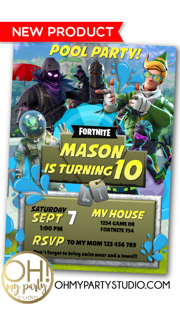 FORTNITE BIRTHDAY INVITATION, FORTNITE POOL PARTY INVITATION, FORTNITE POOL PARTY, FORTNITE POOL BIRTHDAY PARTY, FORTNITE INVITATION, FORTNITE BIRTHDAY, FORTNITE INVITE, FORTNITE INVITATIONS, FORTNITE DIGITAL INVITATION, FORTNITE DIGITAL INVITE, FORTNIGHT INVITATION, FORTNIGHT PARTY, FORTNITE PARTY IDEAS