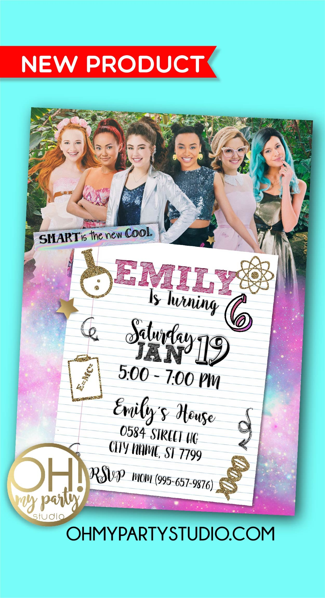 PROJECT MC2 BIRTHDAY INVITATION, PROJECT MC2 PARTY, PROJECT MC2 BIRTHDAY, PROJECT MC2 BIRTHDAY PARTY, PROJECT MC2 INVITATION, PROJECT MC2 BIRTHDAY INVITATION, PROJECT MC2 DECORATIONS, PROJECT MC2 PARTY, PROJECT MC2 INVITATIONS