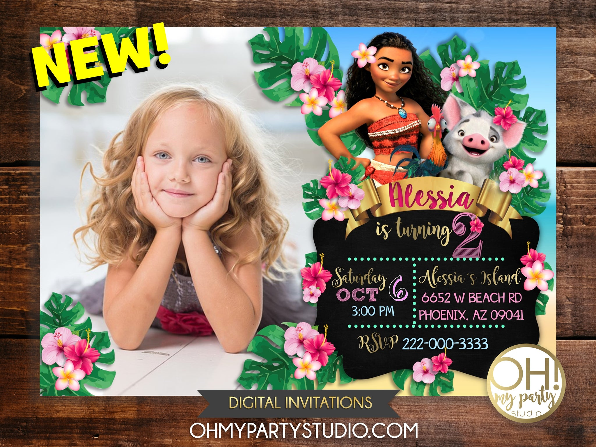 MOANA INVITATION, MOANA BIRTHDAY PARTY,MOANA INVITATION DIGITAL, MOANA INVITATIONS, MOANA PARTY THEME, MOANA PARTY IDEAS, MOANA INVITE, MOANA CARD