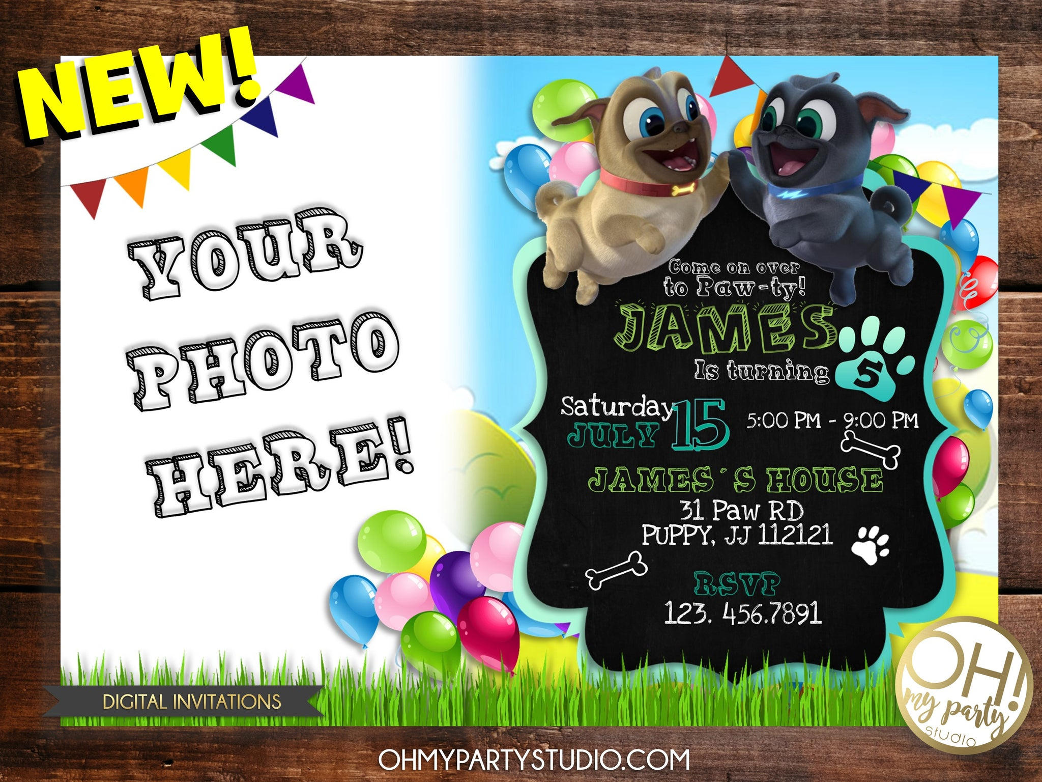PUPPY DOGS PALS INVITE, PUPPY DOGS PALS BIRTHDAY INVITATION, PUPPY DOGS PALS PARTY,PUPPY DOGS PALS BIRTHDAY ,PUPPY DOGS PALS INVITATIONS