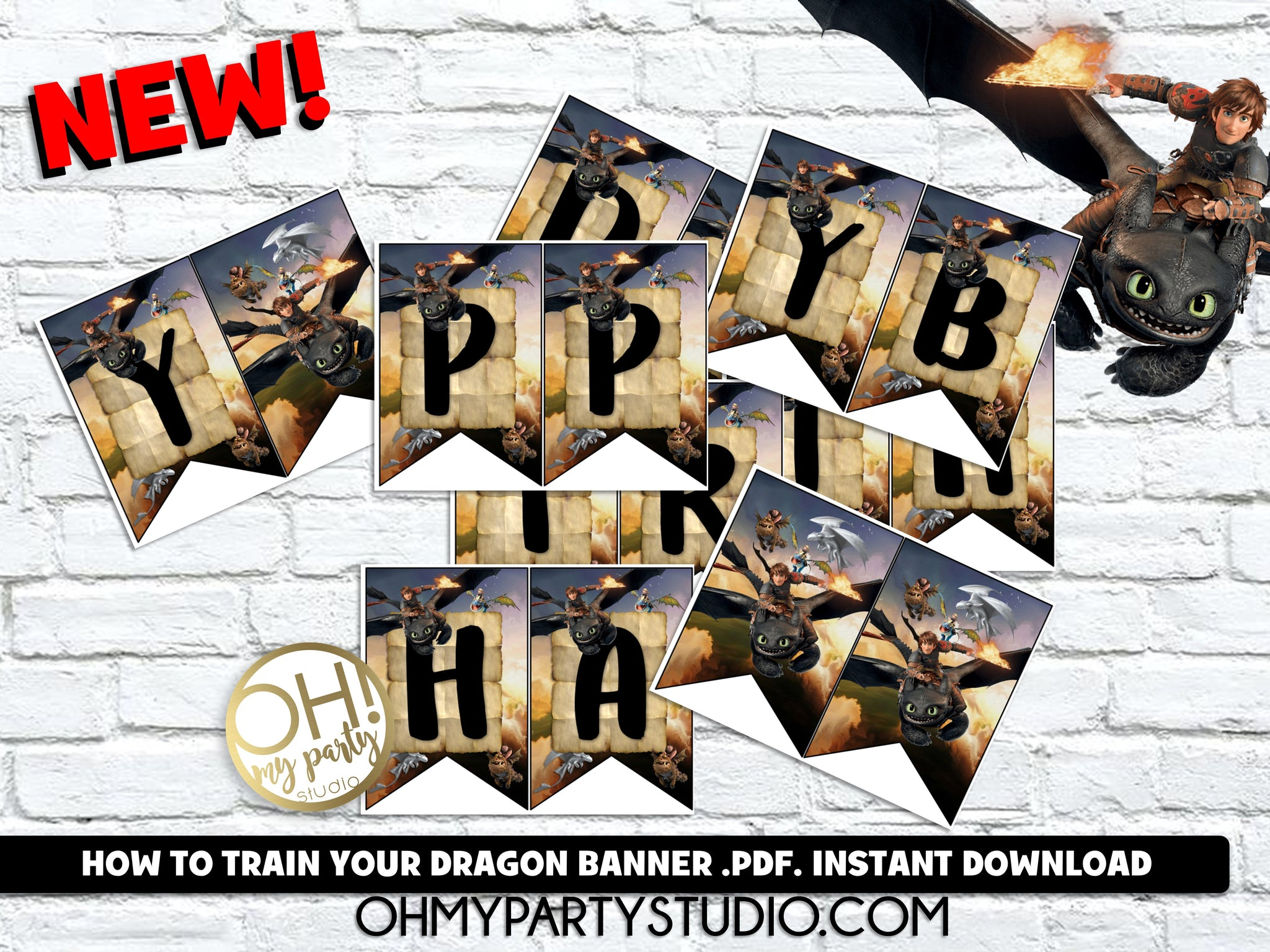 HOW TO TRAIN YOUR DRAGON BANNER INSTANT DOWNLOAD