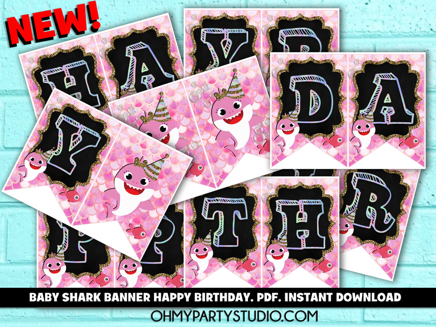 BABY SHARK BANNER INSTANT DOWNLOAD, BABY SHARK PARTY PRINTABLES, BABY SHARK DECORATIONS, BABY SHARK PARTY DECORATIONS, BABY SHARK PARTY IDEAS, BABY SHARK PARTY THEME, BABY SHARK BANNER, BABY SHARK PARTY, BABY SHARK BIRTHDAY, BABY SHARK INVITATION, BABY SHARK INVITATIONS, BABY SHARK PARTY GIRL, BABY SHARK BIRTHDAY GIRL