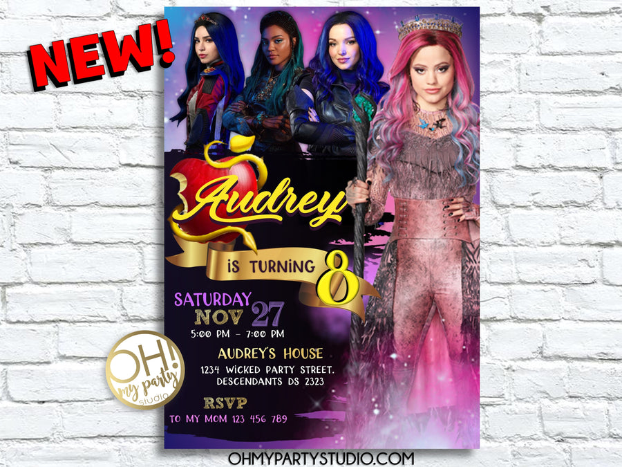 DESCENDANTS 3 BIRTHDAY PARTY INVITATION,DESCENDANTS 3 PARTY IDEAS, DESCENDANTS 3 PARTY, DESCENDANTS 3 INVITATION, DESCENDANTS 3 INVITATIONS, DESCENDANTS 3 PARTY IDEAS, DESCENDANTS 3 BIRTHDAY, DESCENDANTS 3 INVITE, DESCENDANTS 3 CARD, DESCENDANTS 3 PARTY PRINTABLES, DESCENDANTS 3 BIRTHDAY PARTY
