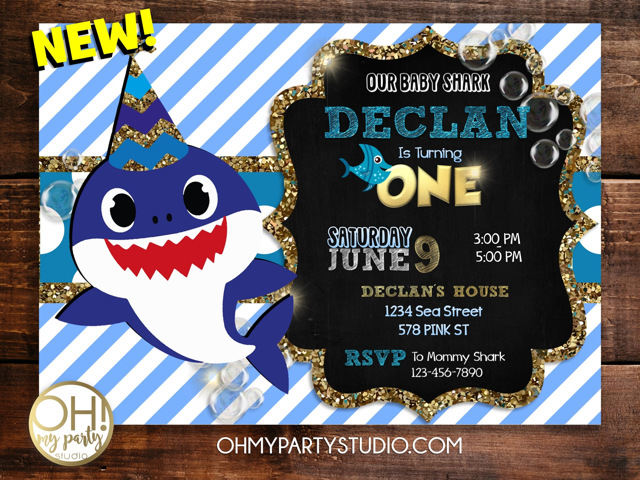 Baby shark birthday invitation for boy, baby shark invitation, baby shark party, baby shark invitations,baby shark party ideas