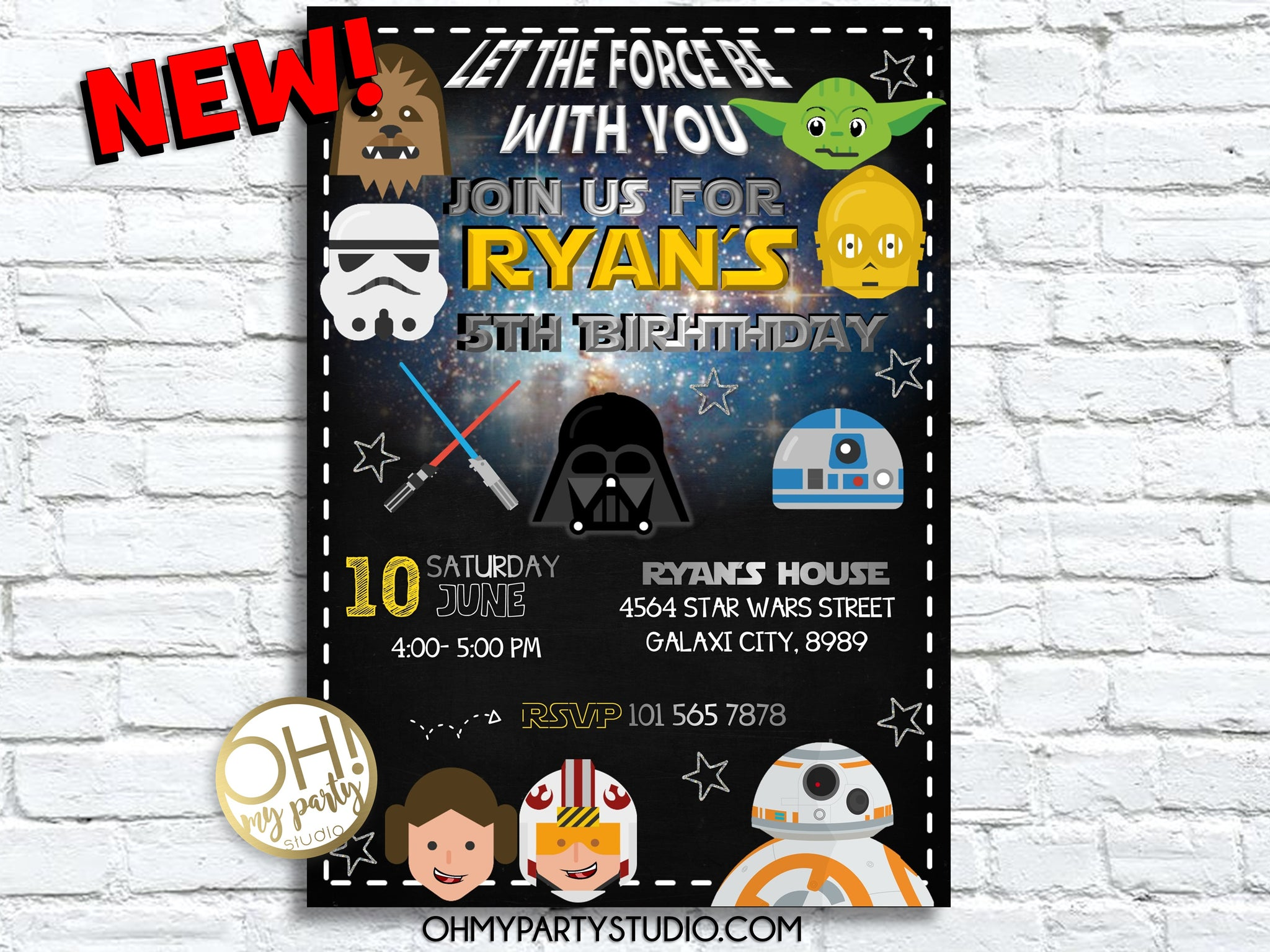 Star Wars Invitation, Star Wars Birthday, Star Wars, Star Wars Printable, Star Wars Card, Star Wars Invite Party, Darth Vader Invite, star wars birthday party, star wars birthday invitation, star wars invitation digital, star wars invite, star wars party ideas, star wars party decoration