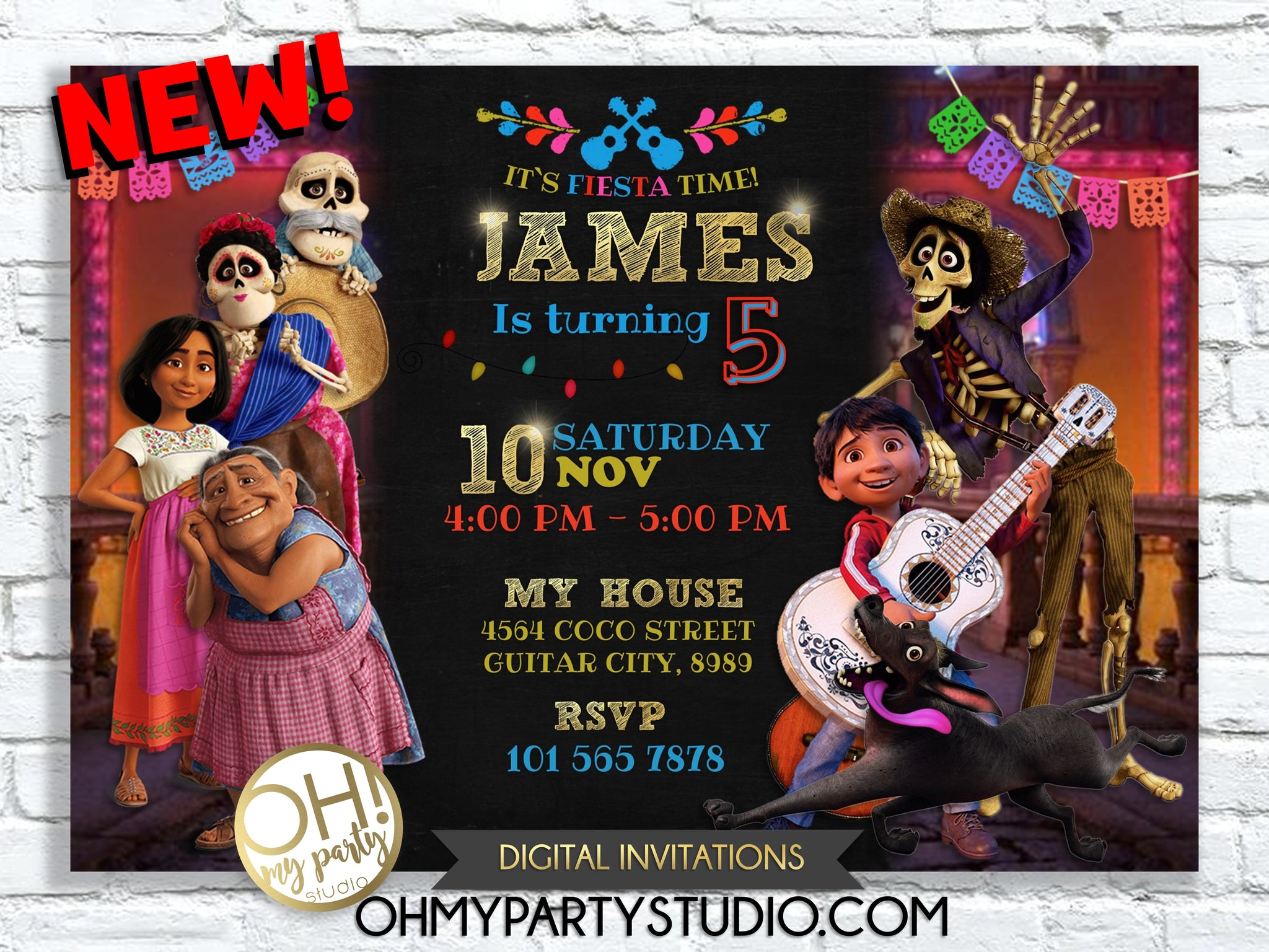 COCO BIRTHDAY PARTY, COCO INVITATION, COCO INVITATIONS, COCO PRINTABLES, COCO PARTY, COCO BIRTHDAY