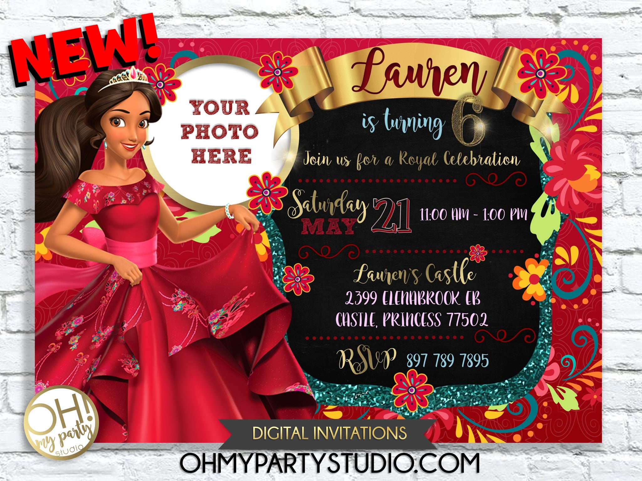 ELENA OF AVALOR BIRTHDAY PARTY INVITATION