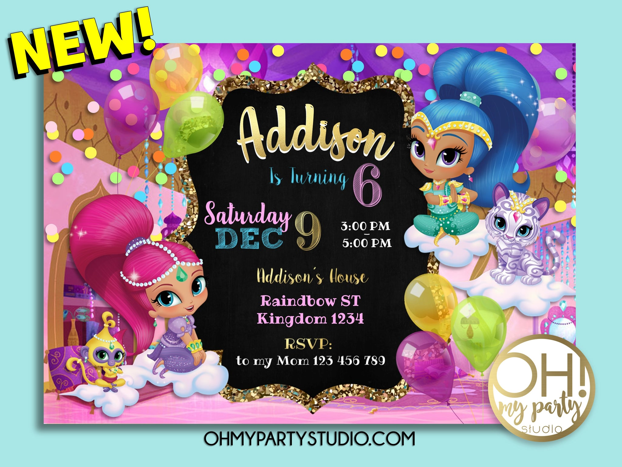 SHIMMER AND SHINE BIRTHDAY PARTY INVITATION, SHIMMER AND SHINE  BIRTHDAY, SHIMMER AND SHINE PARTY, SHIMMER AND SHINE  INVITATION, SHIMMER AND SHINE  INVITATIONS, SHIMMER AND SHINE  CARD, SHIMMER AND SHINE  DIGITAL INVITATION, SHIMMER AND SHINE  BIRTHDAY PARTY, SHIMMER AND SHINE  PARTY PRINTABLES, SHIMMER AND SHINE INVITACIÓN