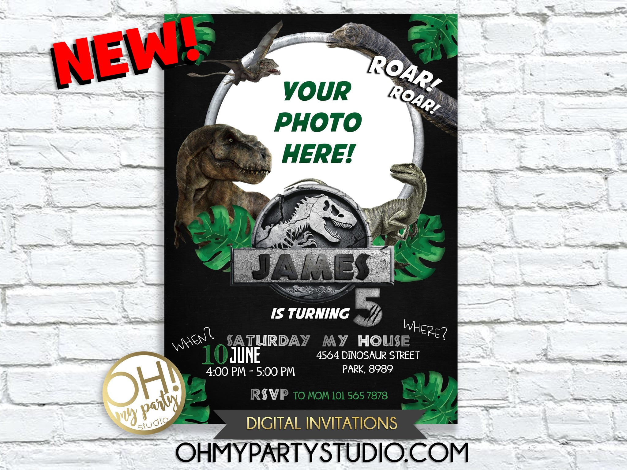 JURASSIC PARK BIRTHDAY INVITATION, JURASSIC INVITATION, DINOSAUR INVITATION, DINOSAURS INVITATION, JURASSIC PARK BIRTHDAY, JURASSIC PARK INVITATION, JURASSIC PARK PARTY, JURASSIC PARK PRINTABLES, DINOSAURS BIRTHDAY INVITATION, DINOSAURS INVITATION