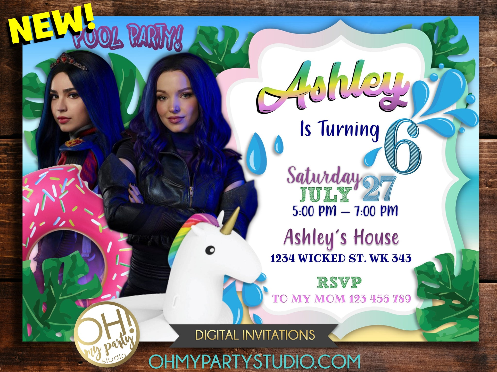 DESCENDANTS 3 BIRTHDAY PARTY INVITATION, DESCENDANTS 3 PARTY, DESCENDANTS 3 INVITATION, DESCENDANTS 3 INVITATIONS, DESCENDANTS 3 PARTY, DESCENDANTS 3 BIRTHDAY, DESDENDANTS INVITATION, DESCENDANTS 3 POOL PARTY, DESCENDANTS POOL PARTY, DESCENDANTS 3 PARTY IDEAS, DESCENDANTS POOL, DESCENDANTS 3 PARTY THEME, DESCENDANTS POOL PARTY INVITATION