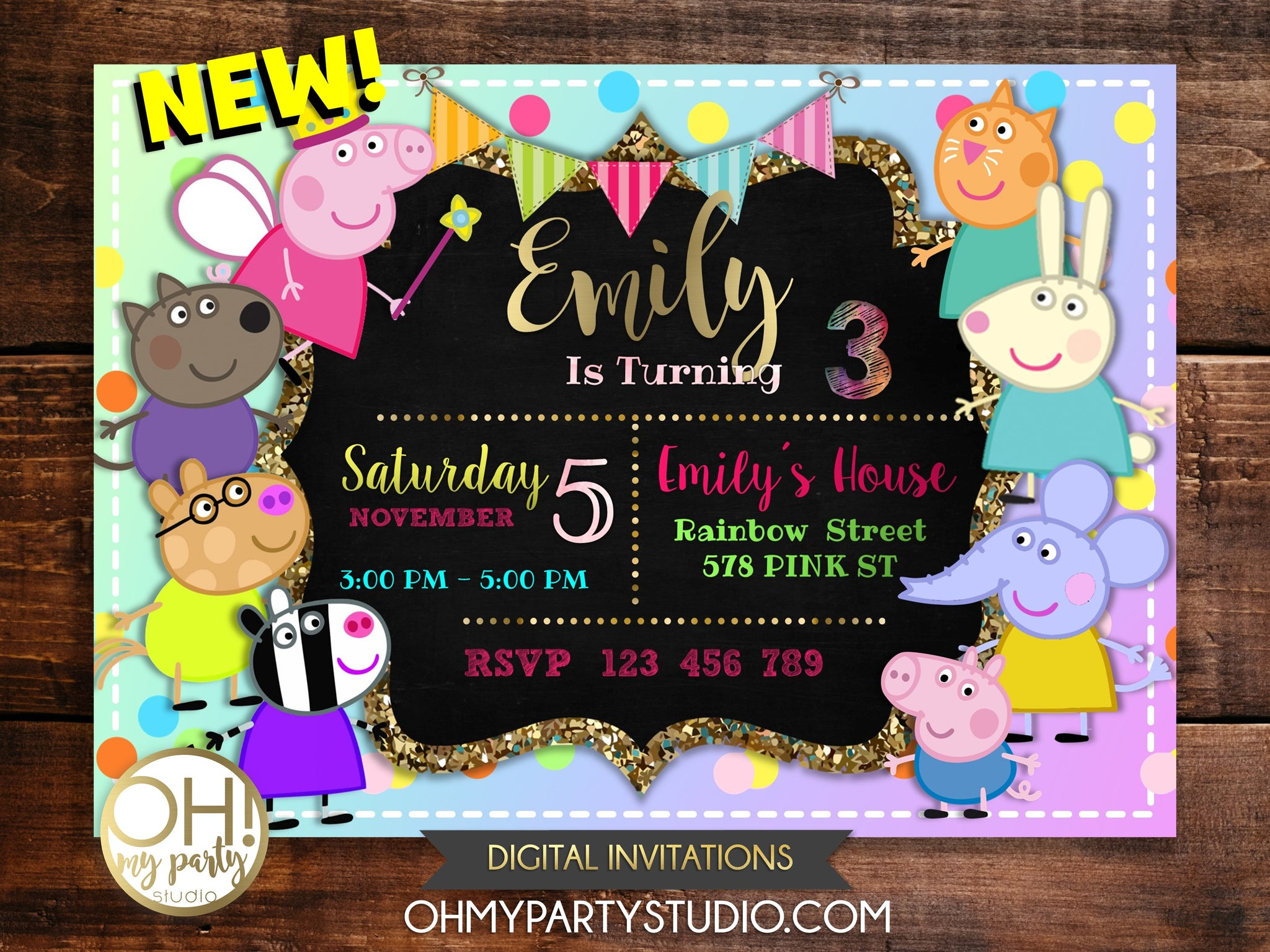 photo regarding Peppa Pig Printable Invitations named Items Webpage 6 - OH MY Occasion STUDIO