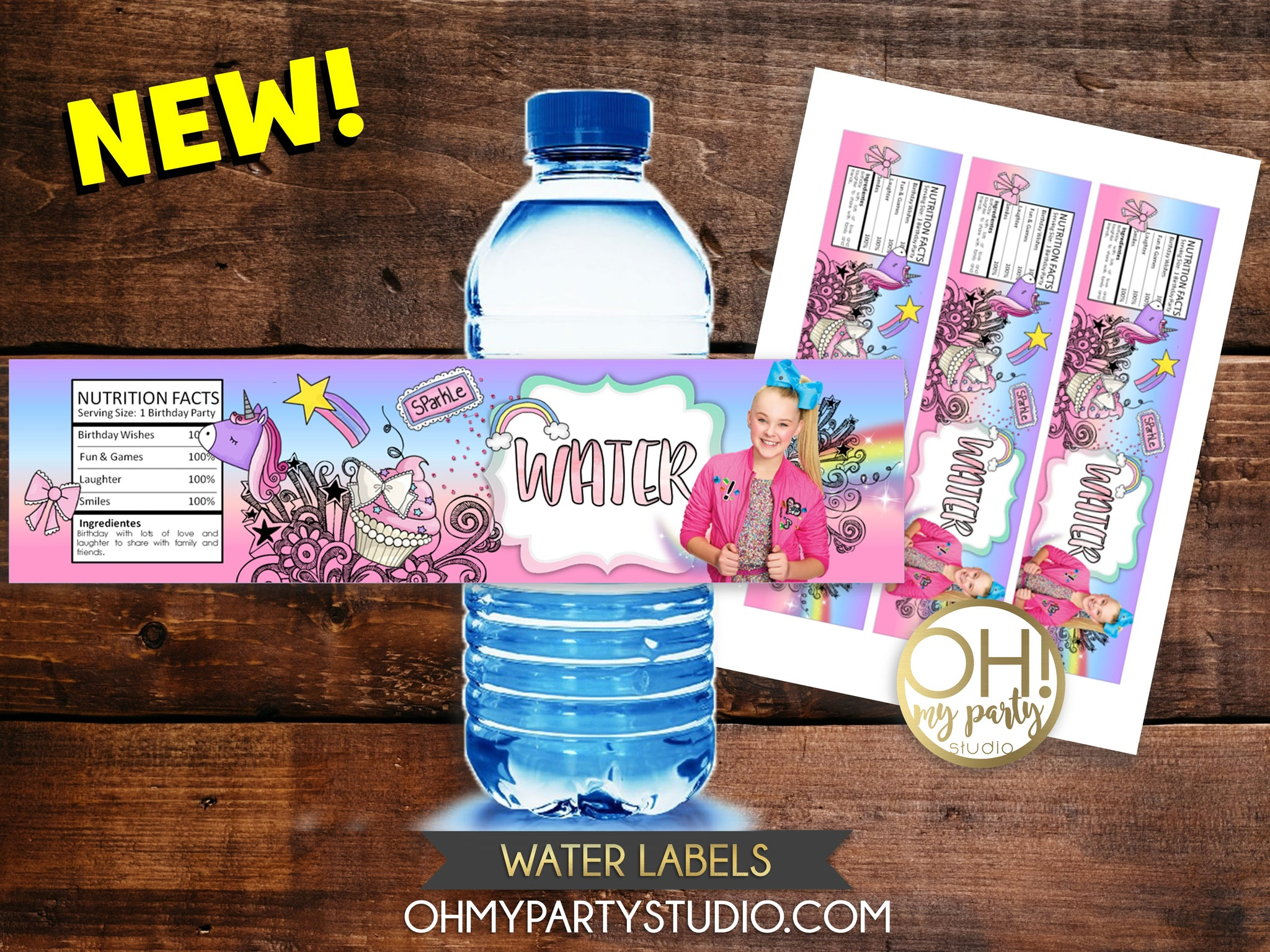 JOJO SIWA WATER LABELS, JOJO SIWA WATER, JOJO SIWA WATER BOTTLE, JOJO SIWA PARTY, JOJO SIWA PARTY DECORATIONS, JOJO SIWA PARTY PRINTABLES, JOJO SIWA PARTY IDEAS, JOJO SIWA PARTY THEME,JOJO SIWA PRINTABLES, JOJO SIWA INVITATION, JOJO SIWA INVITATIONS