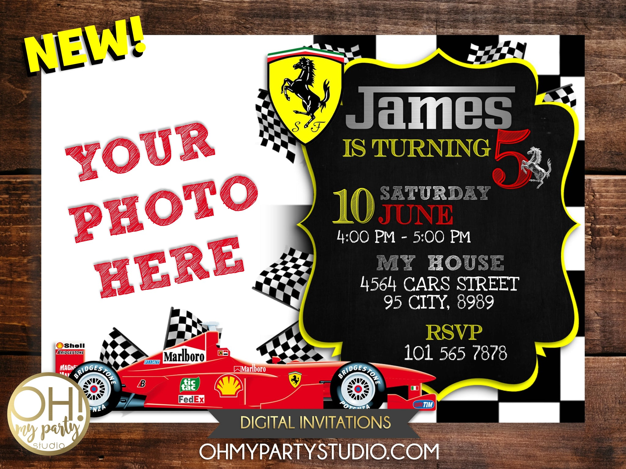 FERRARI INVITATION, FERRARI BIRTHDAY, FERRARI INVITATIONS, FERRARI BIRTHDAY, FERRARI BIRTHDAY INVITATION, FERRARI PRINTABLES