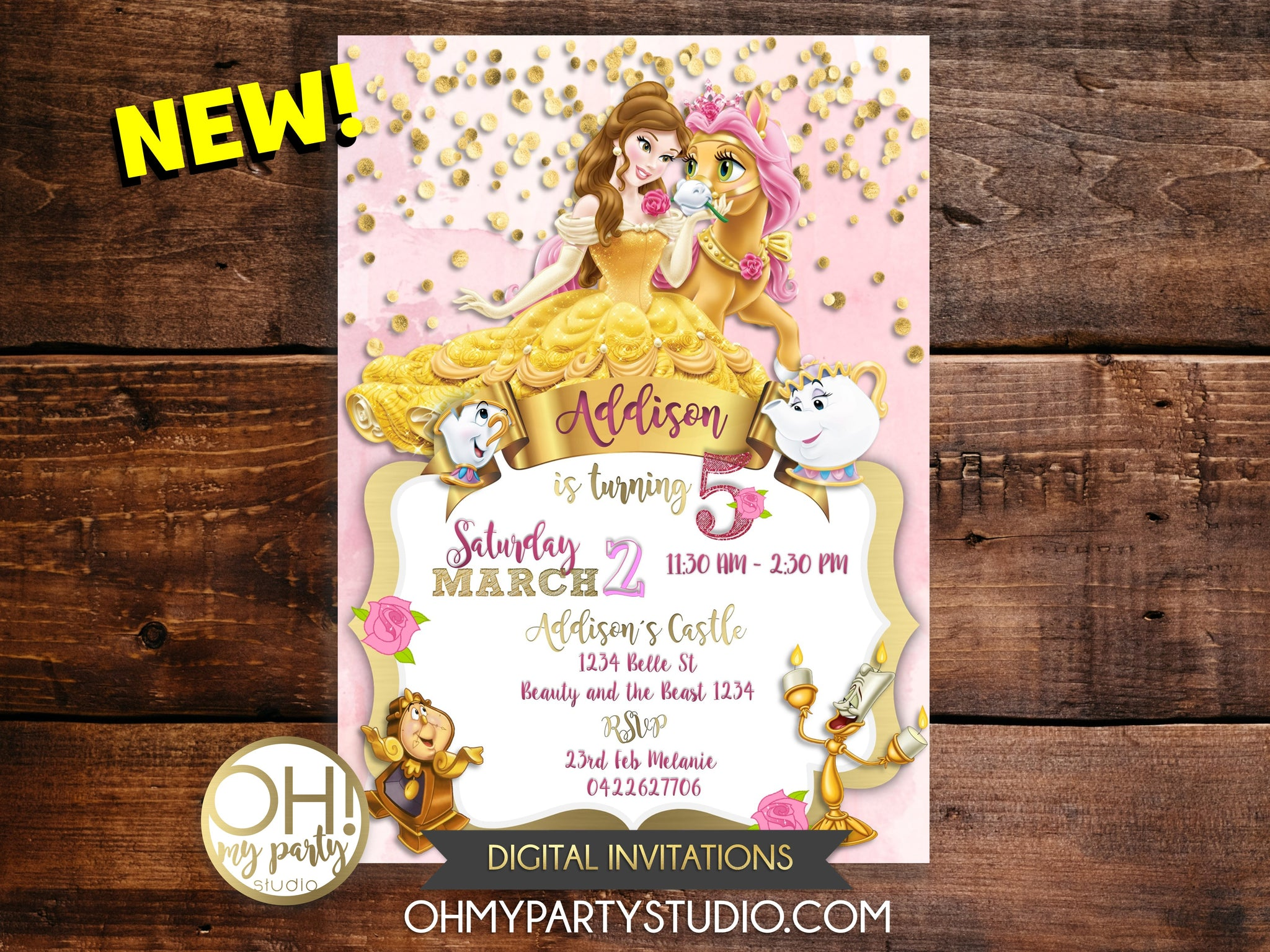 photograph regarding Free Printable Beauty and the Beast Birthday Invitations identify Splendor AND THE BEAST BIRTHDAY INVITATION
