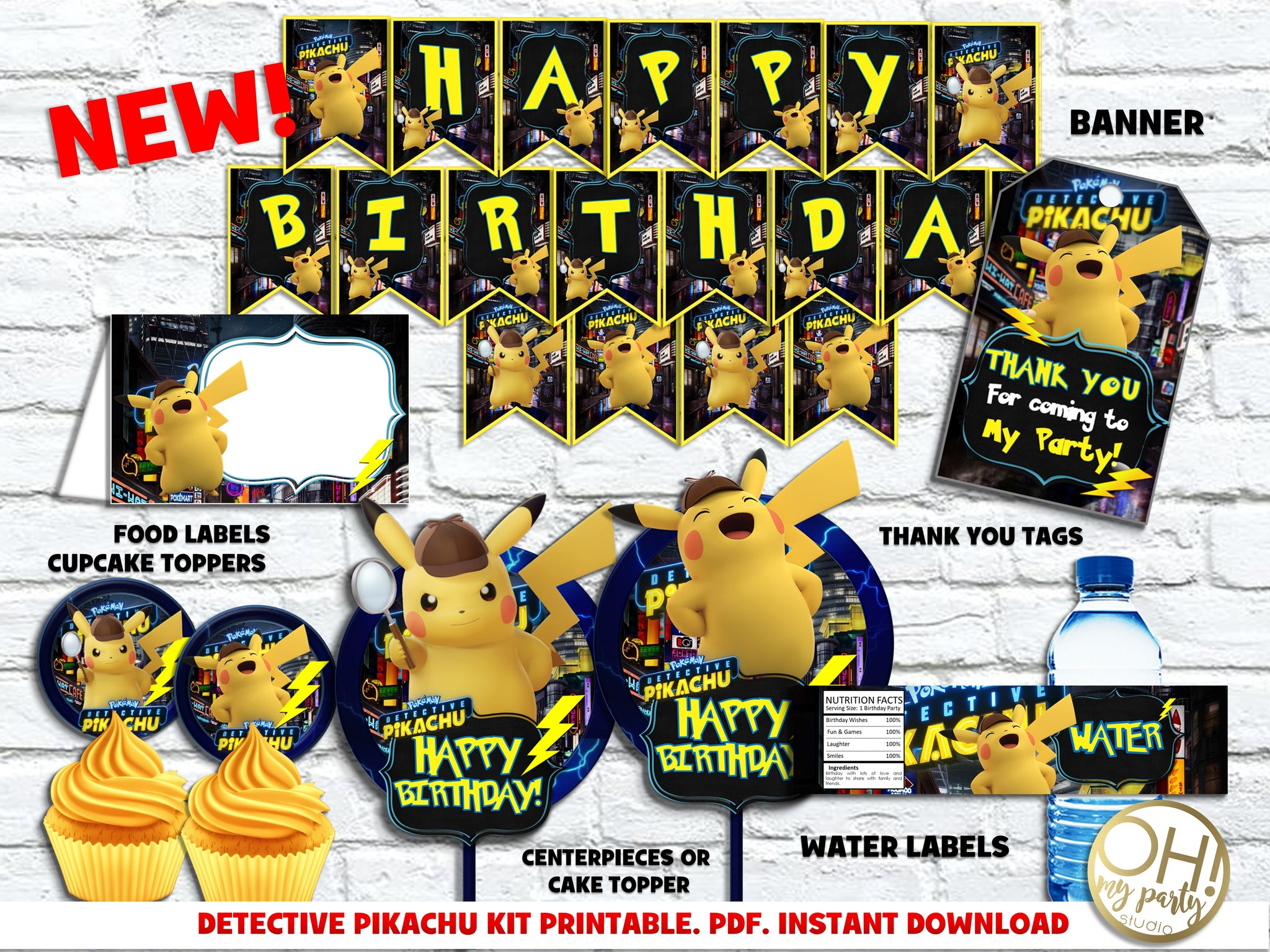 DETECTIVE PIKACHU KIT PRINTABLE, DETECTIVE PIKACHU DECORATIONS, DETECTIVE PIKACHU BANNER, DETECTIVE PIKACHU BIRTHDAY PARTY, DETECTIVE PIKACHU BIRTHDAY, DETECTIVE PIKACHU THANK YOU TAGS, DETECTIVE PIKACHU PARTY PRINTABLES, DETECTIVE PIKACHU INVITATION, DETECTIVE PIKACHU INVITATIONS, DETECTIVE PIKACHU PARTY IDEAS, DETECTIVE PIKACHU PACKAGE PRINTABLE, DETECTIVE PIKACHU KIT