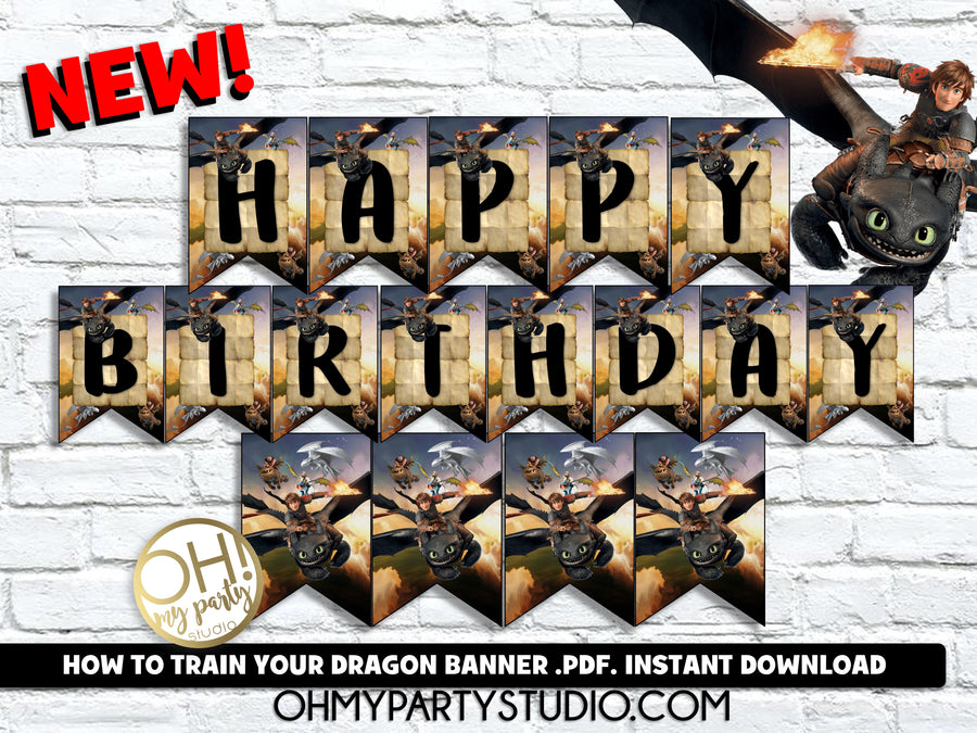 HOW TO TRAIN YOUR DRAGON BANNER, HOW TO TRAIN YOUR DRAGON BANNER INSTANT DOWNLOAD, HOW TO TRAIN YOUR DRAGON PRINTABLES, HOW TO TRAIN YOUR DRAGON DECORATIONS, HOW TO TRAIN YOUR DRAGON BIRTHDAY PARTY