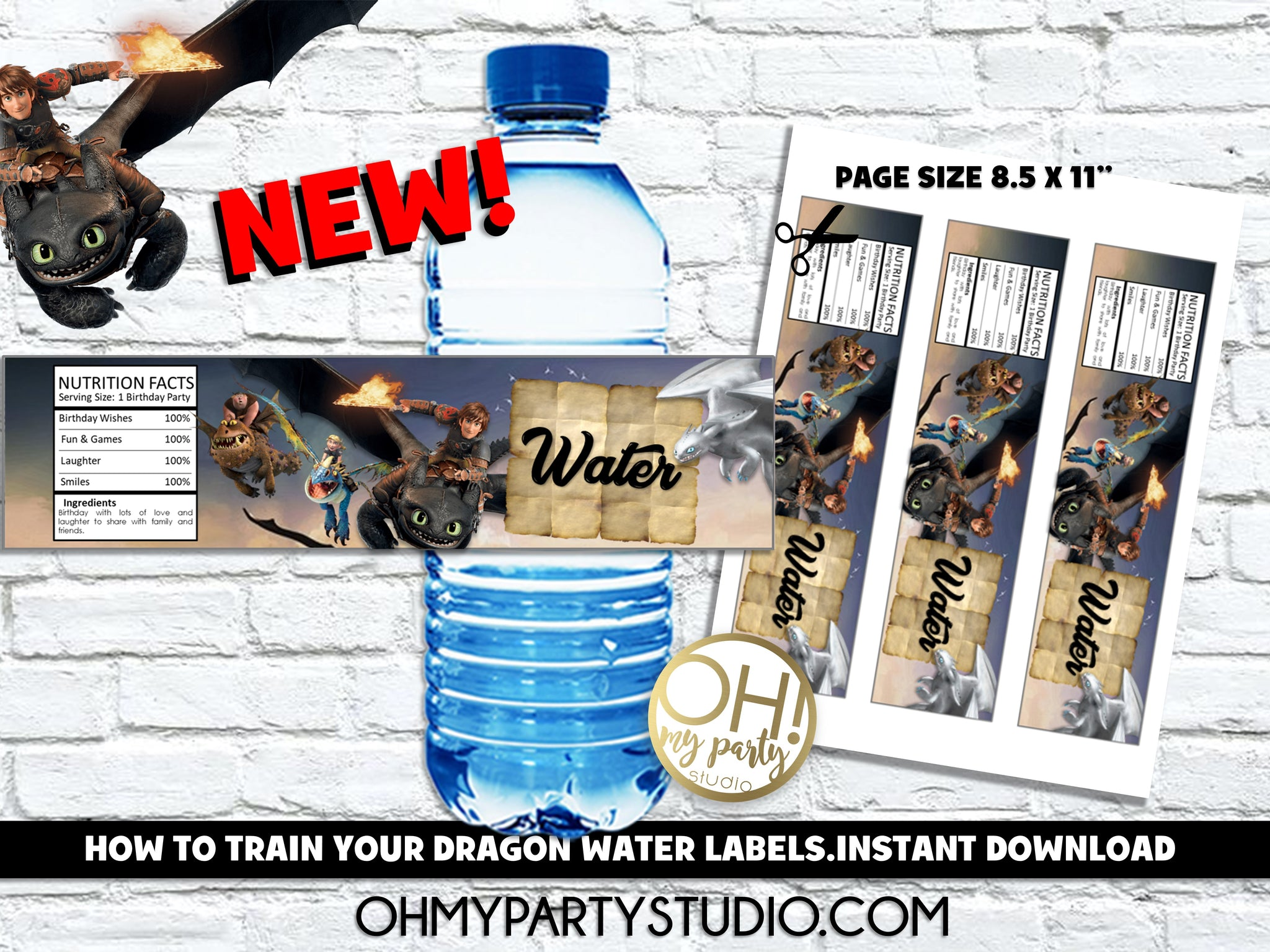 HOW TO TRAIN YOUR DRAGON WATER LABELS, HOW TO TRAIN YOUR DRAGON BIRTHDAY, HOW TO TRAIN YOUR DRAGON PARTY, HOW TO TRAIN YOUR DRAGON PRINTABLES, HOW TO TRAIN YOUR DRAGON BIRTHDAY PARTY