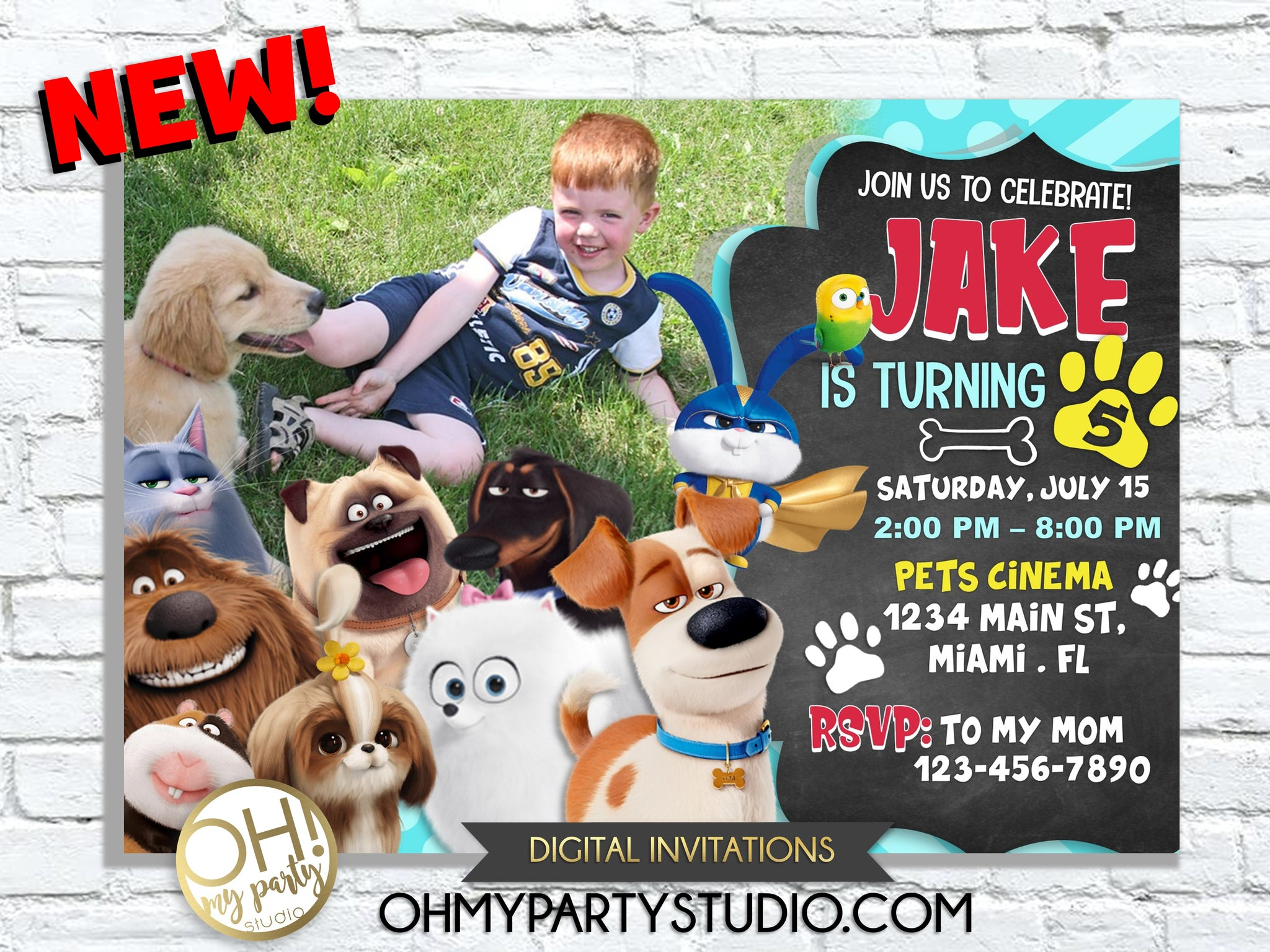 The Secret Life of Pets 2 Birthday Party invitation, Printable The Secret Life of Pets 2 Birthday Party Invites, Secret Life Of Pets 2 Invitation for Birthday Party,Secret Life Of Pets 2 birthday invitation, Secret Life Of Pets 2 invitations, ticket, pets 2 invitation, pets 2 invitations, pets 2 party printables,  The Secret Life of Pets 2 invitations,  The Secret Life of Pets 2 invitation,  The Secret Life of Pets 2 birthday,  The Secret Life of Pets 2 party,  The Secret Life of Pets 2 birthday invitation