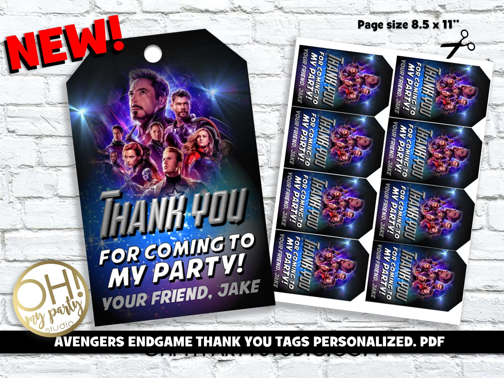 AVENGERS ENDGAME THANK YOU TAGS, AVENGERS ENDGAME THANK YOU TAGS PERSONALIZED, AVENGERS ENDGAME PARTY, AVENGERS ENDGAME BIRTHDAY, AVENGERS ENDGAME PRINTABLES, AVENGERS ENDGAME TAGS, AVENGERS ENDGAME THANK YOU CARD