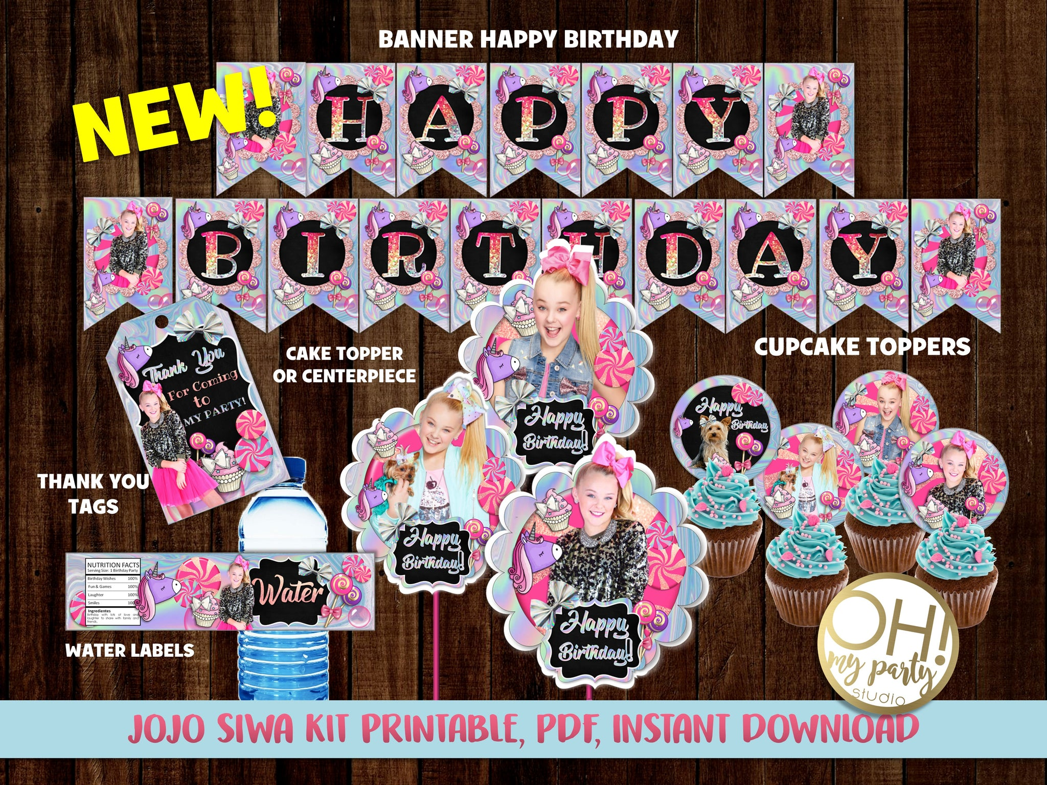 JOJO SIWA PARTY PRINTABLES, JOJO SIWA DECORATIONS, JOJO SIWA THANK YOU TAGS, JOJO SIWA BANNER, JOJO SIWA CUPCAKES, JOJO SIWA CENTERPIECES, JOJO SIWA CAKE TOPPER, JOJO SIWA PARTY THEME, JOJO SIWA PARTY IDEAS, JOJO SIWA BIRTHDAY