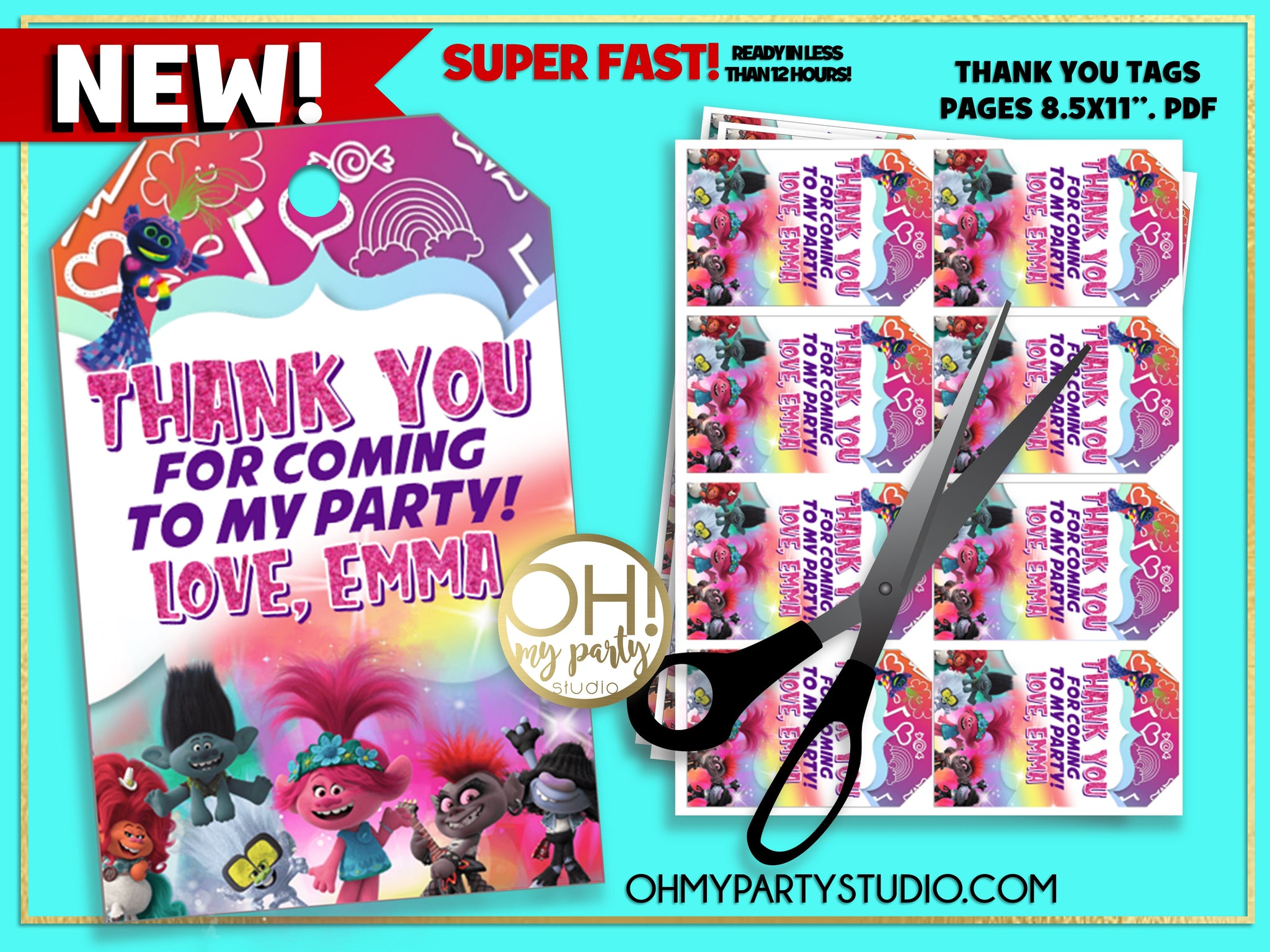 TROLLS 2 THANK YOU TAGS, TROLLS 2 BIRTHDAY PARTY, TROLLS WORLD TOUR THANK YOU TAGS, TROLLS WORLD TOUR PARTY IDEAS, TROLLS WORLD TOUR FAVORS, TROLLS WORLD TOUR PARTY SUPPLIES, TROLLS WORLD TOUR PARTY PRINTABLES, TROLLS WORLD TOUR THANK YOU, TROLLS WORLD TOUR TAGS, TROLLS 2 PARTY IDEAS, TROLLS 2 PARTY PRINTABLES, TROLLS 2 PARTY SUPPLIES