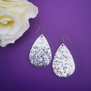 Teardrop - Glitter Collection - Silver