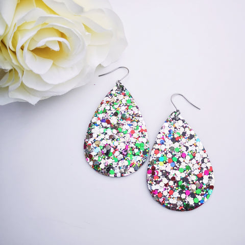 Teardrop - Glitter Collection - Rainbow