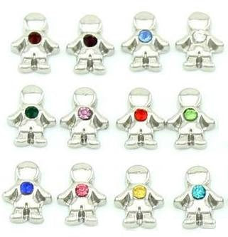 Birthstone charm - boys