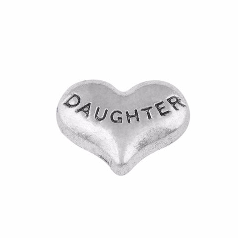 Daughter Heart - Silver