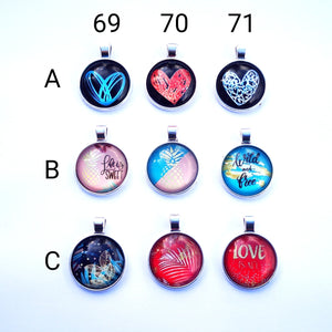 Glass Dome Pendants #22