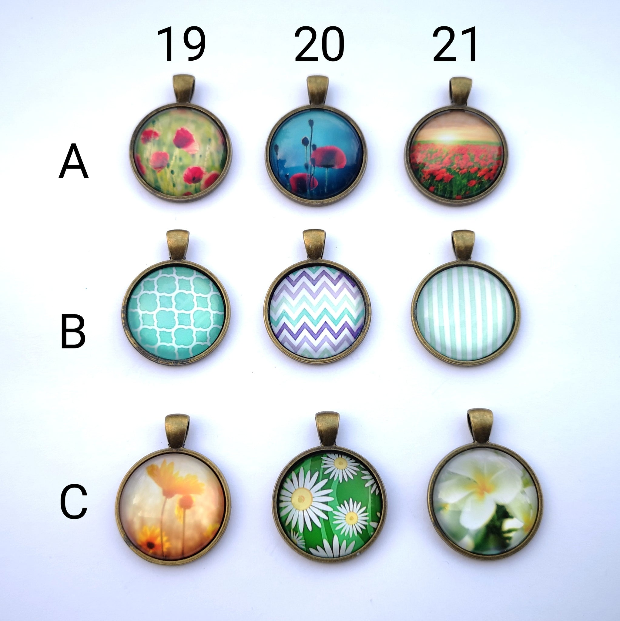 Glass Dome Pendants #7