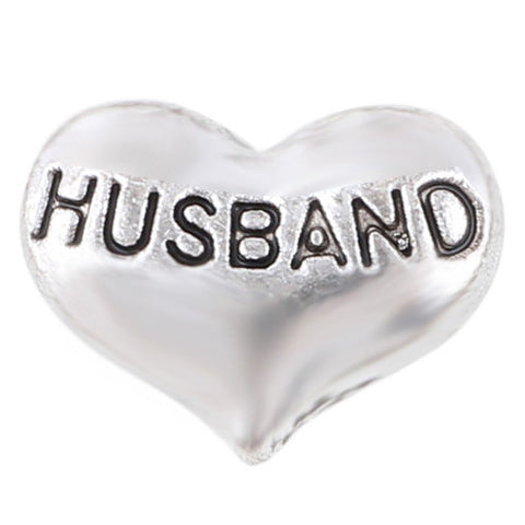Husband Heart - Silver