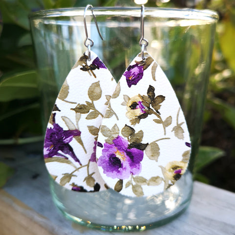 Floral - Purple and White