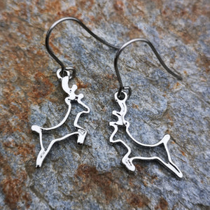 Prancing Reindeer Earrings