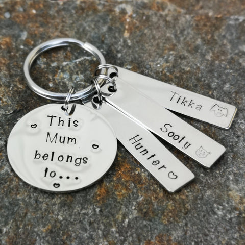 Belongs to Keyring - with Name Tags