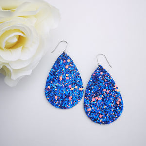 Teardrop - Glitter Collection - Blue