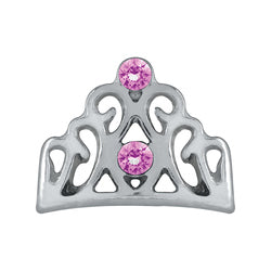 Tiara With Pink Rhinestones