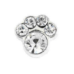 Pawprint - Clear Rhinestone