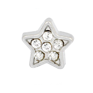 Star - Silver With Clear Rhinestones