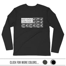 Load image into Gallery viewer, MACAmerica FLAG - Premium Fitted Long Sleeve Crew