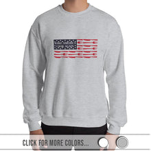 Load image into Gallery viewer, MACAmerica FLAG - Crew Neck Sweatshirt (Unisex)